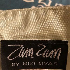 Zum Zum by Niki Livas Dresses - Amazing Strapless Party Dress! Rare: Celadon/Black